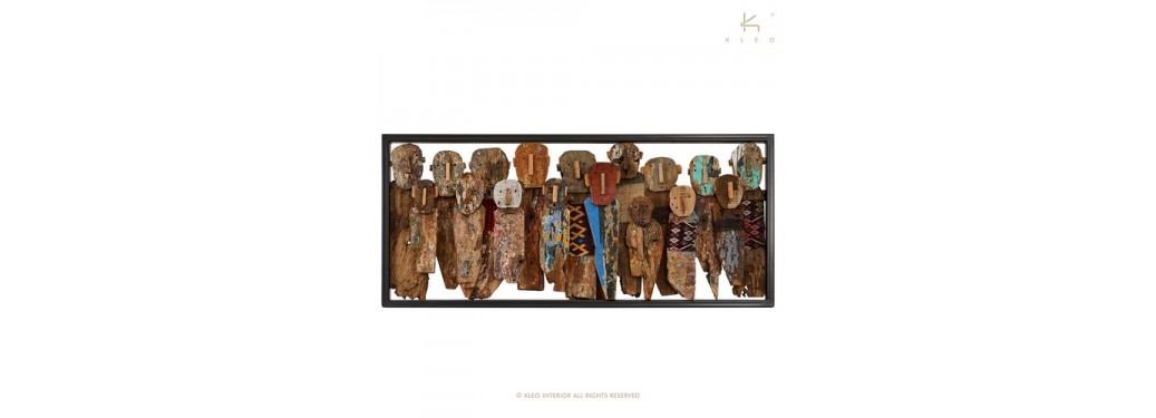 Tableau Toraja rectangulaire