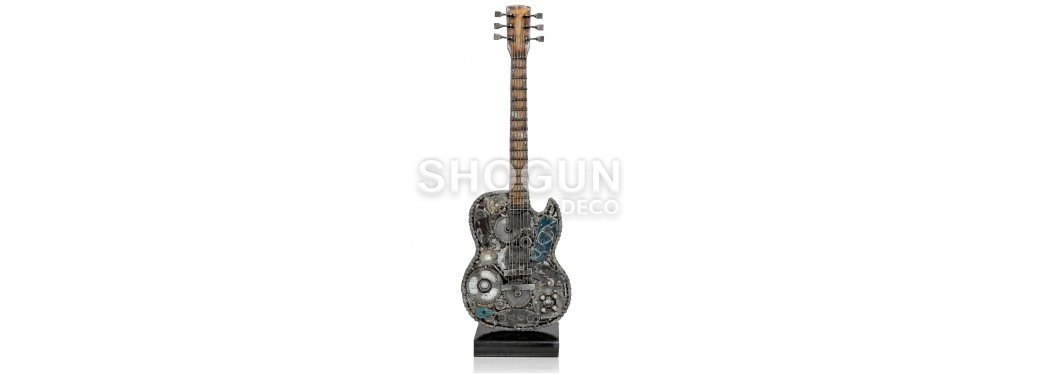 Electric Guitar statue made out of mechanical pieces