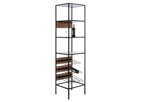 Combo shelving unit with bottle racks