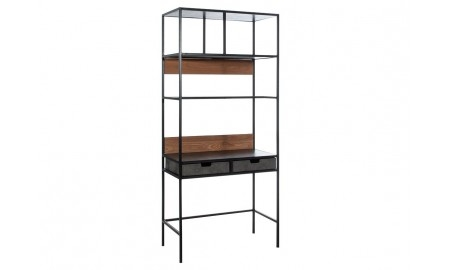 Combo shelving unit with desk