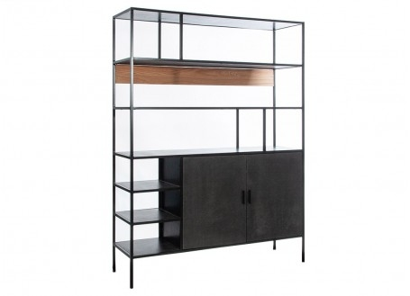 Combo shelving unit with dresser