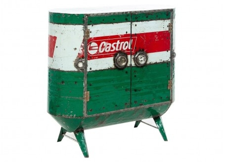 Commode en bidon recyclé - artisanat