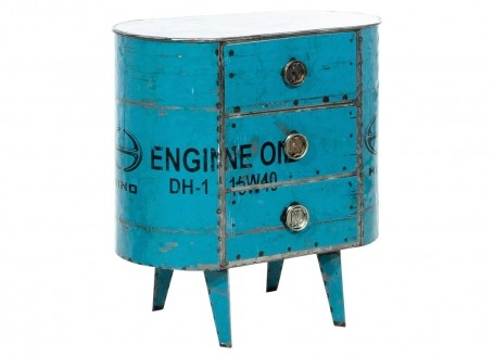 End table made ouf of oil can  - arts & crafts