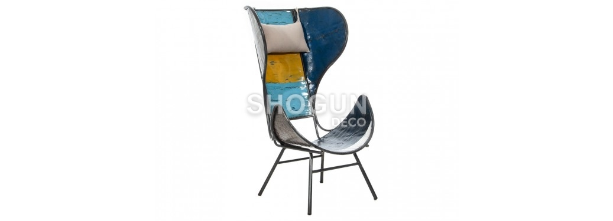 Fauteuil lounge en bidon recyclé - artisanat