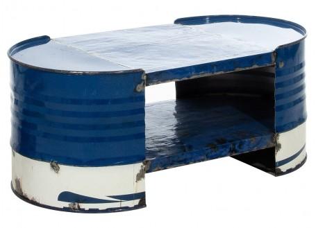 Table basse en bidon recyclé - artisanat