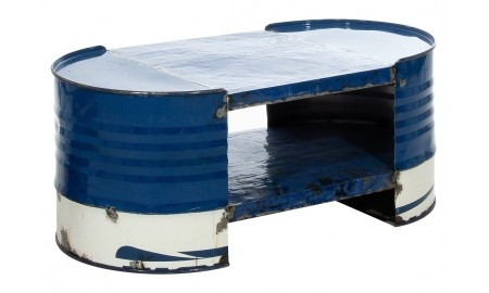 Table basse bidon recyclé - artisanat