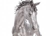 Statue de cheval en aluminium - artisanat