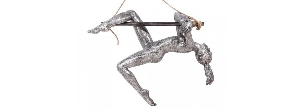 Statue de trapéziste en aluminium - artisanat