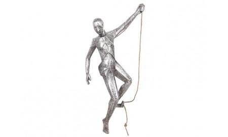 Statue d'escaladeur en aluminium - artisanat