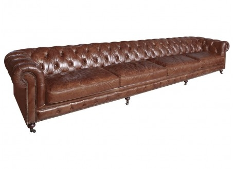 Canapé Chesterfield - 4m03 / 6 places