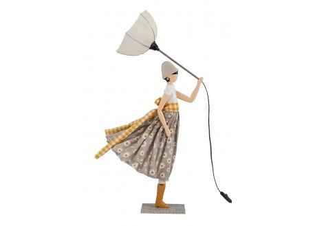 Lampe Margarita - fille au parapluie