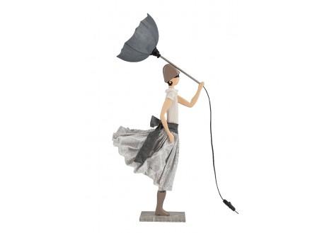 Lampe femme au parapluie - Vrisihida