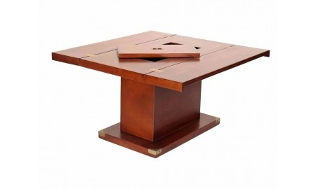 Table basse carrée abattants Glasgow