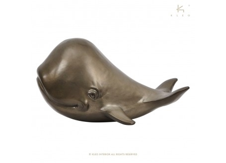 Baleine en métal