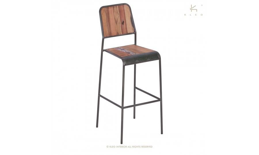 Chaise haute de bar Cube - Finition noire