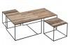Table basse gigogne Influence, plateau en bois