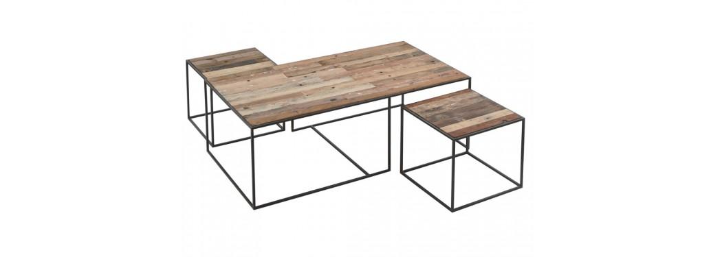 Table basse Influence rectangulaire, plateau en verre