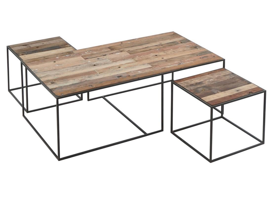 Grande Table Basse Gigogne En Bois