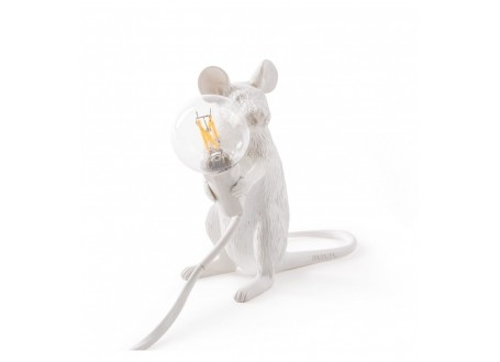 Lampe souris assise