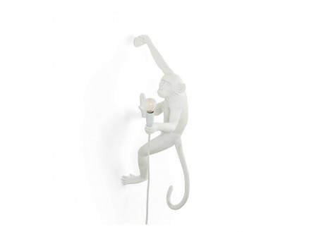 Lampe singe suspendu main droite
