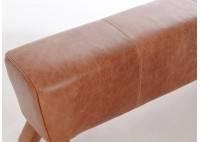 Banc cheval d'arçon en cuir finition Columbia Brown