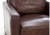 Fauteuil Dallas - Cuir marron et métal