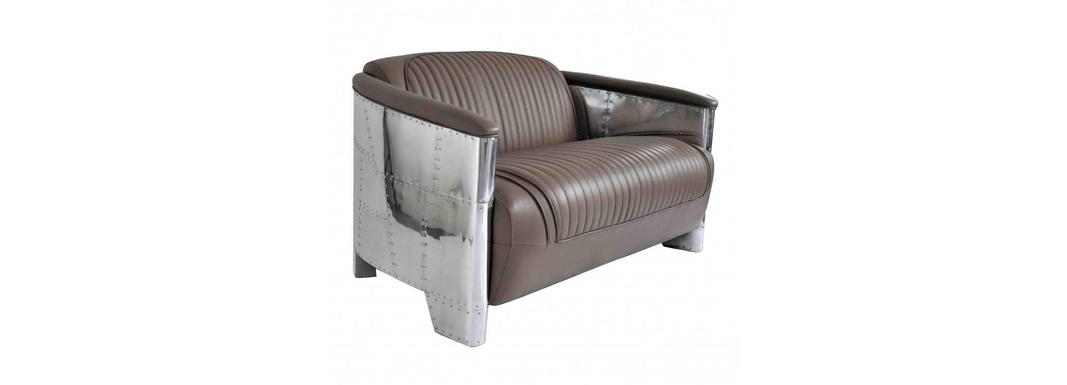 Aviator sofa - Taupe leather
