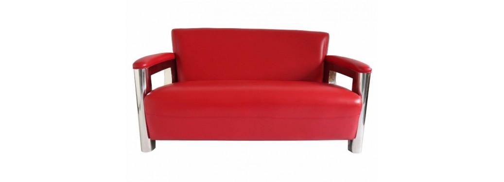 Canapé club Aston - Cuir rouge