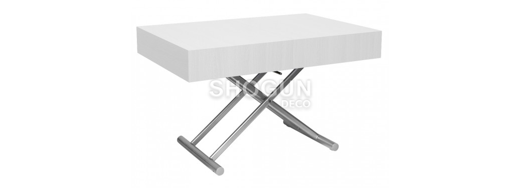 Table basse extensible relevable - Blanche