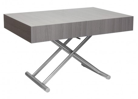 Table basse extensible relevable - grise