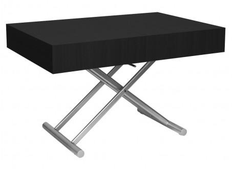Table basse extensible relevable - Noire