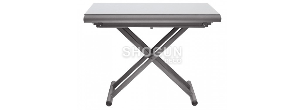 Table basse extensbile relevable - blanche