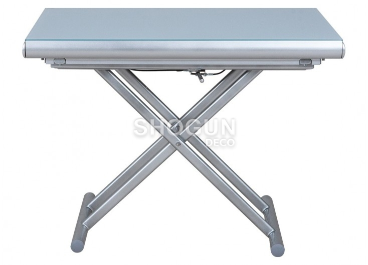 Table basse extensible relevable - Gris clair