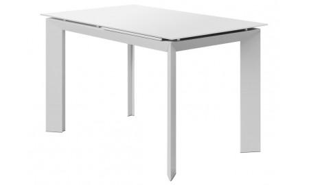 Table extensible en résine - Finition blanche