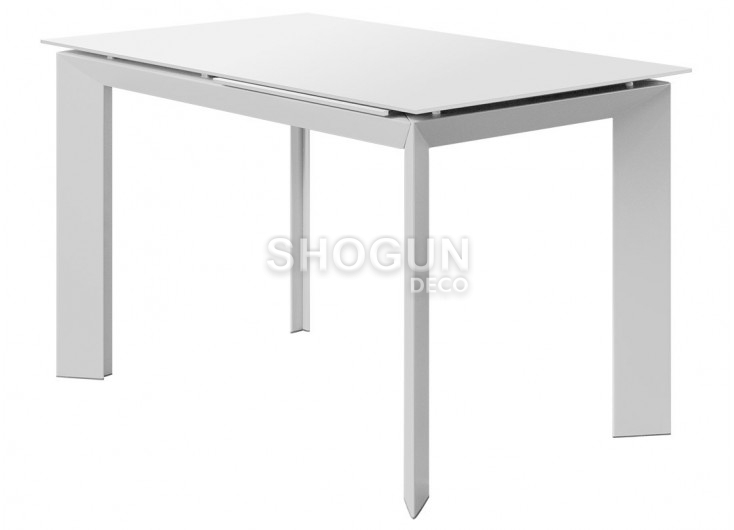 Table extensible en résine - Finition blanche