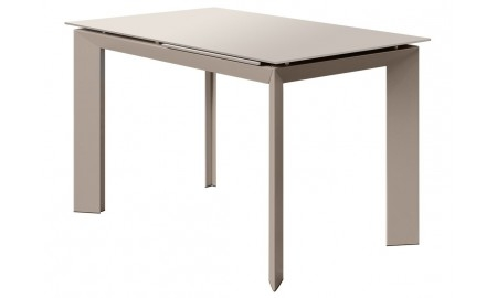 Table extensible en résine - Finition taupe