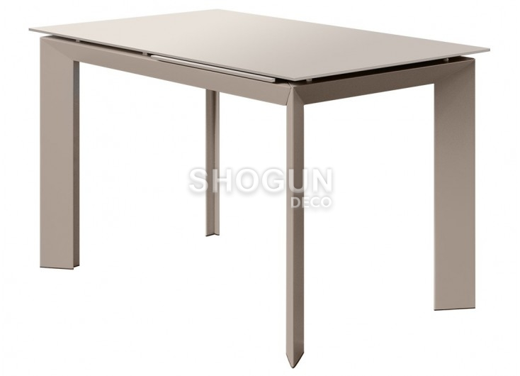 Table extensible en résine - Finition taupe