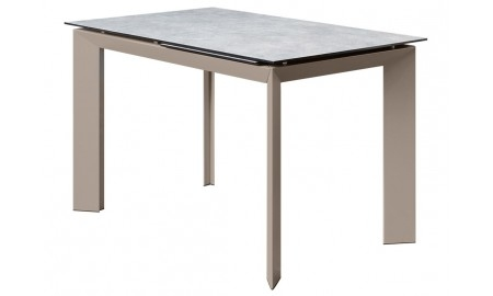 Table extensible en céramique - Finition grise