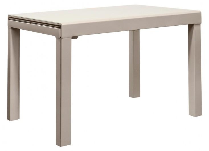 Table extensible en verre trempé - Finition taupe