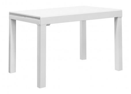 Table extensible en verre trempé - Finition blanche