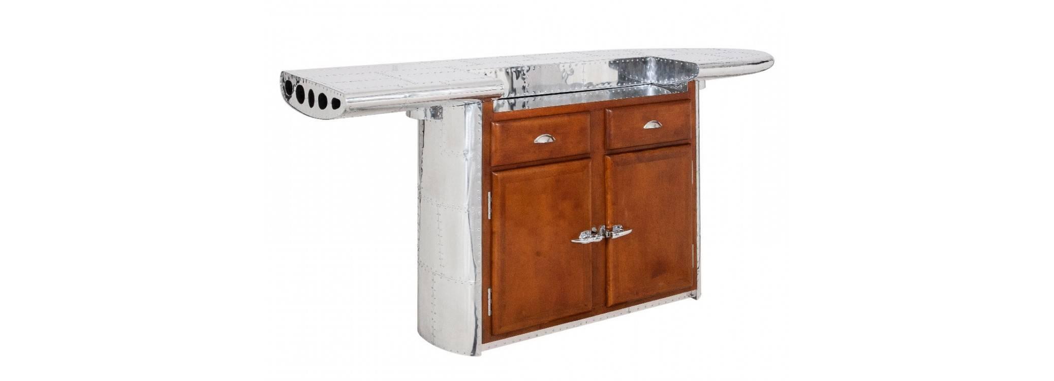 Meuble bar comptoir aile d'avion - DC3