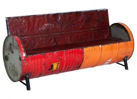 Canapé en bidon recyclé - L172 cm