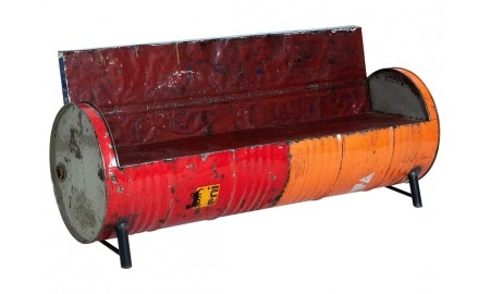 Sofa made out of oil can - arts & crafts