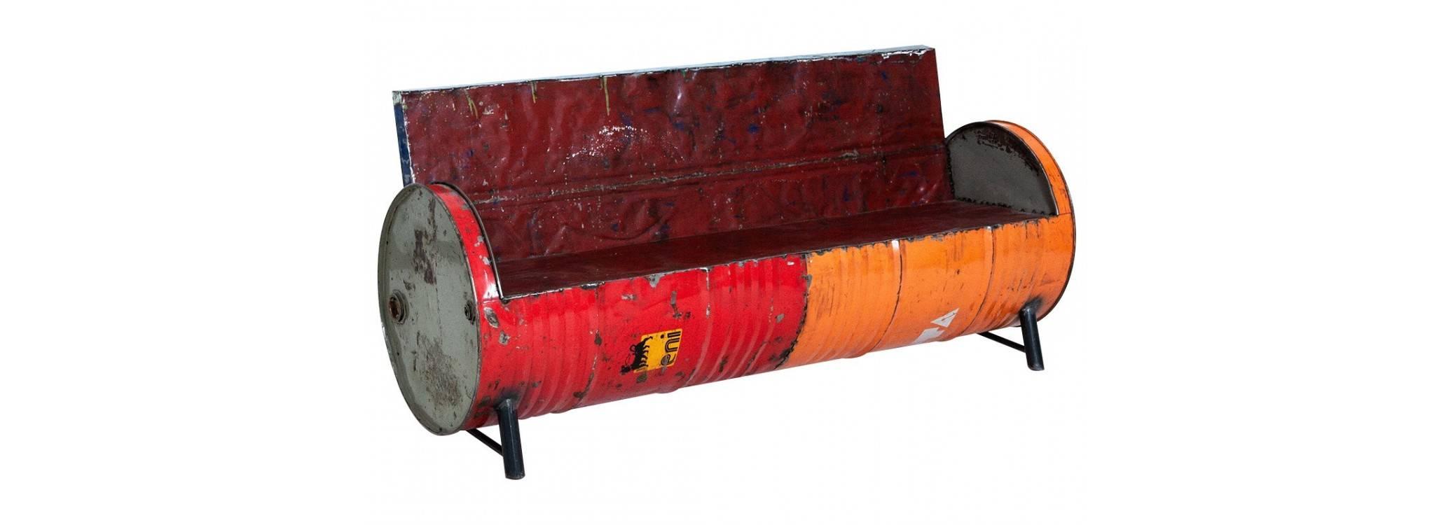 Canapé design conçu avec des bidons recyclés - 172 cm