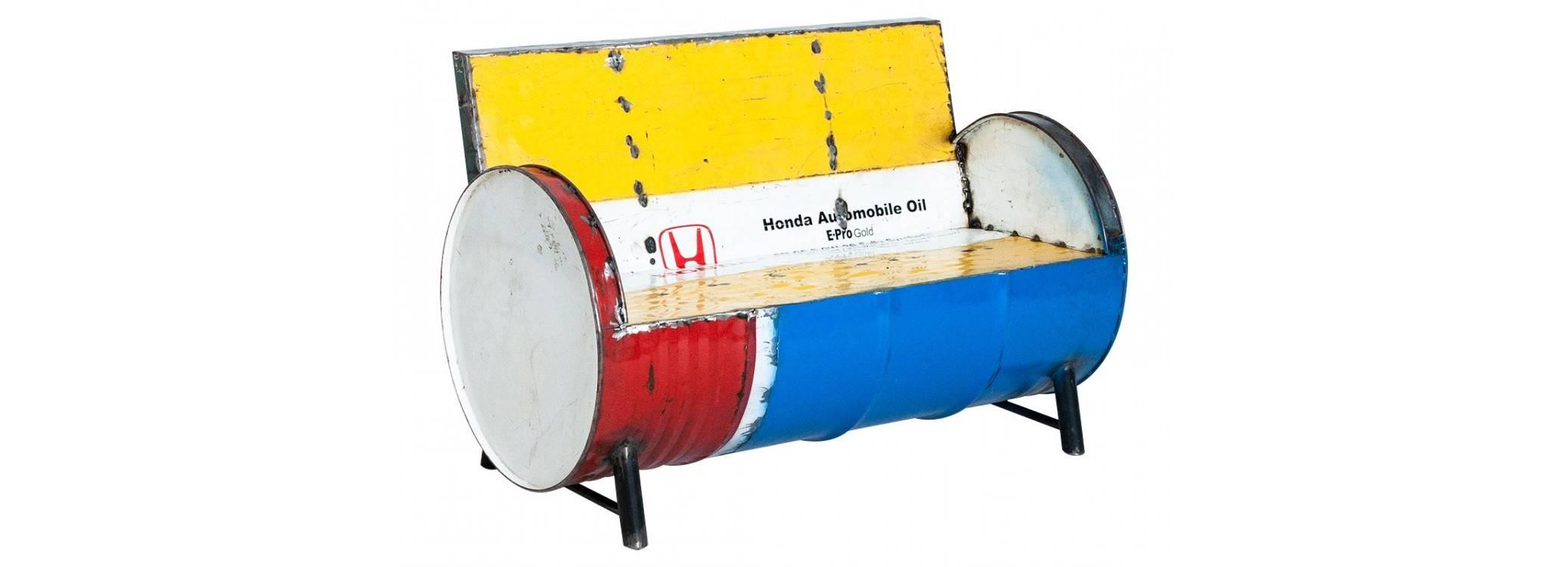 Canapé en bidon recyclé - L120 cm