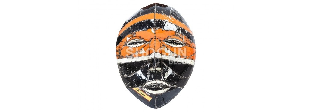 Mask made ouf of oil can - arts & crafts