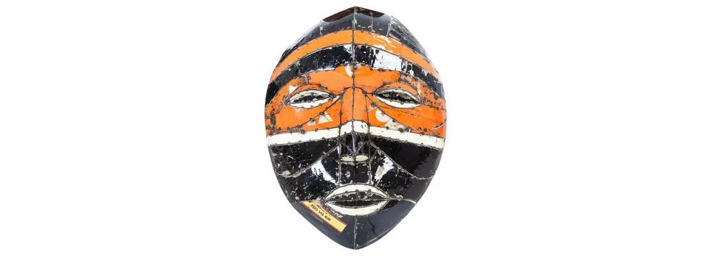 Masques muraux en bidon recyclé - grand format