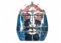 Masque mural en bidons recyclés - grand format