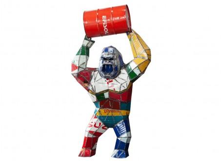 King-Kong / Gorille en bidon recyclé