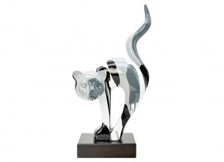 Statue chat en résine - H45cm